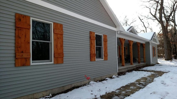 Rustic Cedar Shutters / Exterior Home Decor