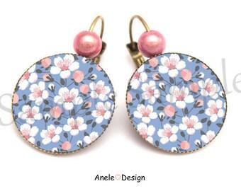 Earrings Sakura cherry blossom bead