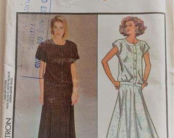 Vintage Style sewing pattern 1017 - Misses' two-piece dress