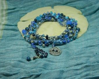 Ocean of Blue, beach, crochet, wrap