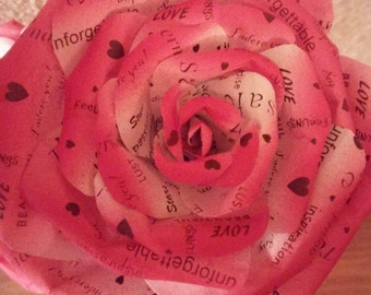 Words of Love Flower - Template