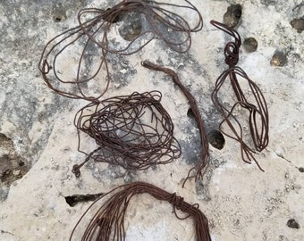 lots of pieces of baling wire, old, rusted, bent, used, twisted, aged and intertwined for assemblage, steampunk, altered art  W001