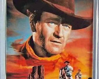The Searchers John Wayne Ward Bond Jeffrey Hunter Natalie Wood movie poster Fridge Magnet & Jumbo Keyring New