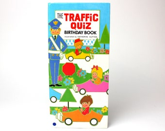 "Vintage Story Book Greetings ""The Traffic Quiz"" Hardcover Birthday Book by Katheryn Hutton - C.R. Gibson"
