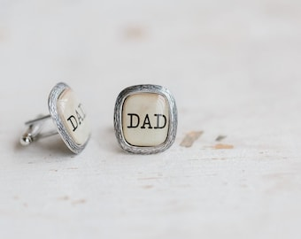 Father's Day Cufflinks, Dad Cufflinks, Fathers Day Gift, Dad gift, Cufflinks for dad, Gifts for Dad, Father of the bride cuff links from son