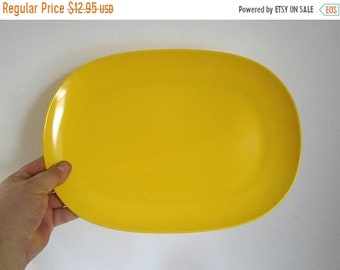 "Sale - Mid Century TEXAS-WARE Bright Yellow Melamine Platter - 13-7/8"" x 9-7/8"" -  # 141"