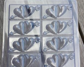 Tray-Hearts Soap Mold