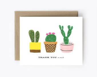 Thank You So Much - Cacti Thank You Card