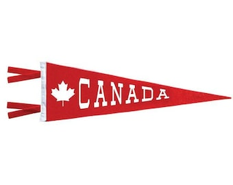 Felt Pennant - Canada Maple Leaf