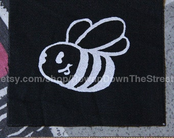 Happy Bee Screen Print Patch