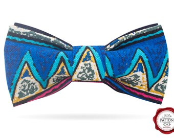Bow Tie / bowtie / Fabric bow tie / African bow tie / blue bow tie / geometric pattern bow tie / gift for him
