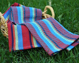 Happy Fibonnaci Towels PDF pattern for rigid heddle loom digital download