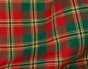 Fabric | Tartan Fabric | Red Green Fabric | Cotton Linen | Linen Fabric | Cotton Fabric | Linen Cotton Fabric | Cotton Fabric By The Yard