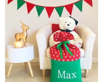 Handmade Christmas Reindeers Santa Sack