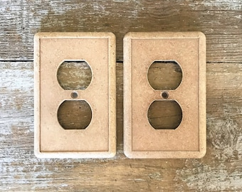 Outlet Covers 2 Outlet Plates Mid Century Hardware Home Improvement Electrical Outlet Plate Cottage Chic Outlet Plates Farmhouse Chic
