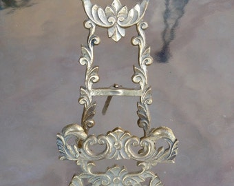 Ornate Brass Stand Easel, Victorian Display Stand, Brass Ornate Tripod, Brass Picture Frame Stand, Ornate Brass Easel, Victorian Decor