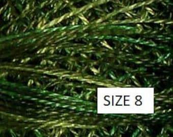 Valdani Size 8 Perle Cotton Floss - O526 Green Pastures