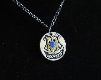 HOGWARTS NECKLACE/  Harry Potter/ Harry potter Jewelry/ Harry Potter Necklace/ Ravenclaw/ Ravenclaw Necklace/ Steampunk/ Steampunk Jewelry