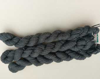 Limited Edition Mini Skein, 20g, DK weight yarn, Charcoal Grey