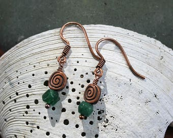 Adventurine Swirl Earrings