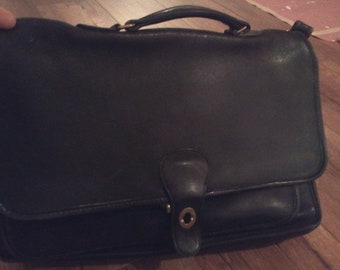 classic Coach leather briefcase