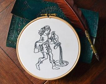 Aquarius Zodiac Embroidery Kit
