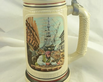 "BEER STEIN TANKARD: Avon, ""The Shipbuilder"" Number 172922"