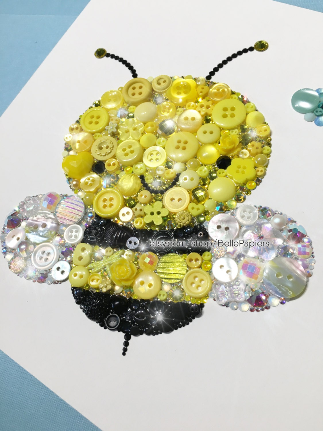 Cute Bumble Bee Decorations Button Art Bee Nursery Bees