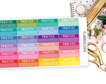 24 Practice Label Stickers - S 0008