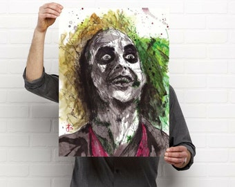 Beetlejuice - movie - Strange - Macabre - weird - tim burton - Horror - Sinister  - evil - Illustration - portrait - dark art