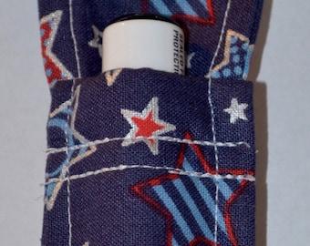 Chapstick Holder, Chapstick Keychain with stars