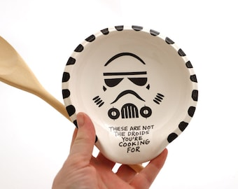 Star Wars spoon rest , stormtrooper - not the droids you're cooking for - ceramics and pottery - home and living - gifts under 20
