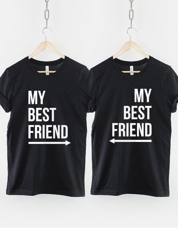 best friends shirts 2 x my best friend t shirt twin pack. Black Bedroom Furniture Sets. Home Design Ideas