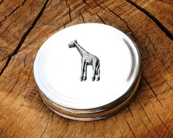 Giraffe Trinket Box English Pewter Ladies Gift