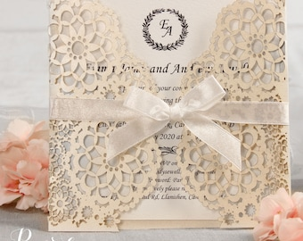 Wedding invitations etsy uk personalised laser cut wedding invitations solutioingenieria Gallery