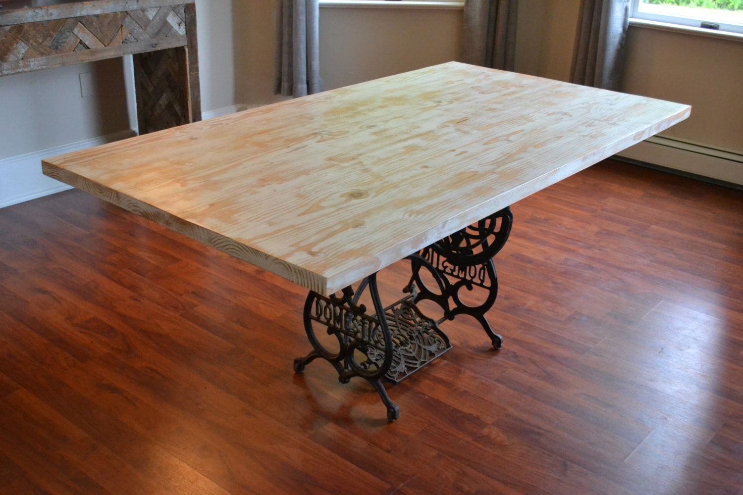 Design Sewing Machine Base Table kitchen table with antique sewing machine base reclaimed wood