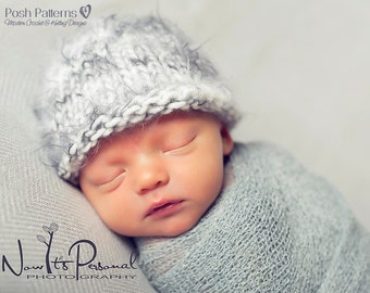 Knitting PATTERN - Easy Knit Baby Beanie Pattern - Knit Hat Pattern - Beanie Pattern - Knitting Patterns Baby - Includes 3 Sizes - PDF 228