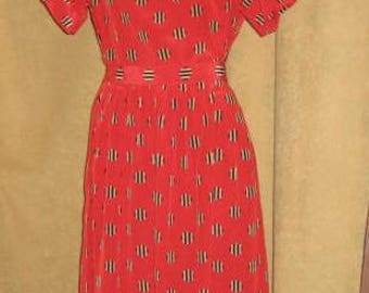 Halston III Dress Two Piece Red 80s Vintage
