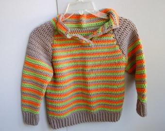 Joyful Autumn Crochet Sweater