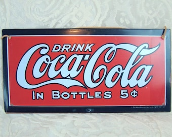 Metal Coca Cola Wall Hanging Sign - Advertising