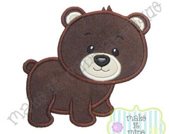 Applique Woodland Animal Bear Machine Applique Design