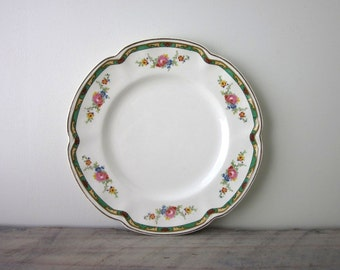 Pareek Johnson Bros Decorative China Plate with Floral Design