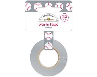 Baseball Washi Tape - Home Run - Doodlebug - 12 yds - Gift Wrapping Planner Washi Tape Scrapbooking Embellishment - 510607