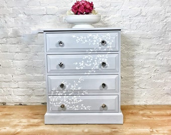 Chest of Drawers celebrating Spring - cherry blossoms and fresh colours