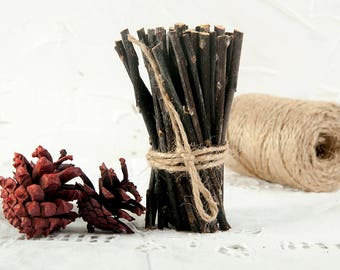 10cm Sticks for craft,  wood sticks,natural craft sticks and branches, twig craft supplies, Tree sticks, rustic wedding, dried arrangement