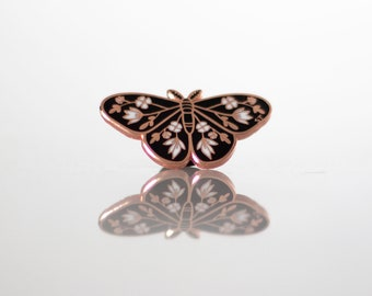 New Beginnings Moth Enamel Pin