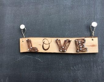 Love nail and string art