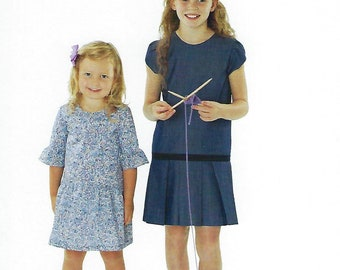 Children's Corner Sewing Pattern #296 / MOLLY / Sizes 18 mo - 6 and 7 - 14