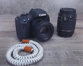 Gray SLR Wrist Camera Strap - Camera strap Wrist - Adjustable Paracord Camera strap For Canon, Nikon and More. SLR Camera Strap for Men