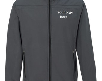 Men's Embroidered Soft Shell Jacket--More Colors